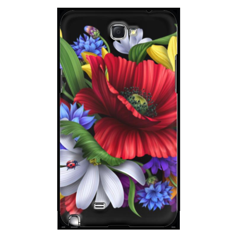 Чехол для Samsung Galaxy Note 2 Printio Композиция цветов чехол для samsung galaxy note 2 printio композиция в сером
