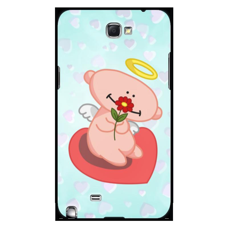 Чехол для Samsung Galaxy Note 2 Printio Влюбленный ангелок с сердцем