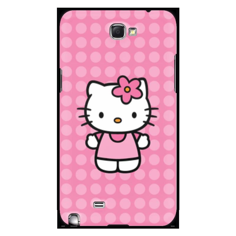 Чехол для Samsung Galaxy Note 2 Printio Kitty в горошек чаша горошек 2 л бел син 1150426
