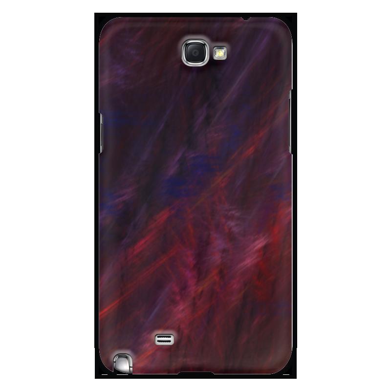 Чехол для Samsung Galaxy Note 2 Printio Абстрактный дизайн браун роуз дизайн кожа pu откидная крышка бумажника карты держатель чехол для samsung a310