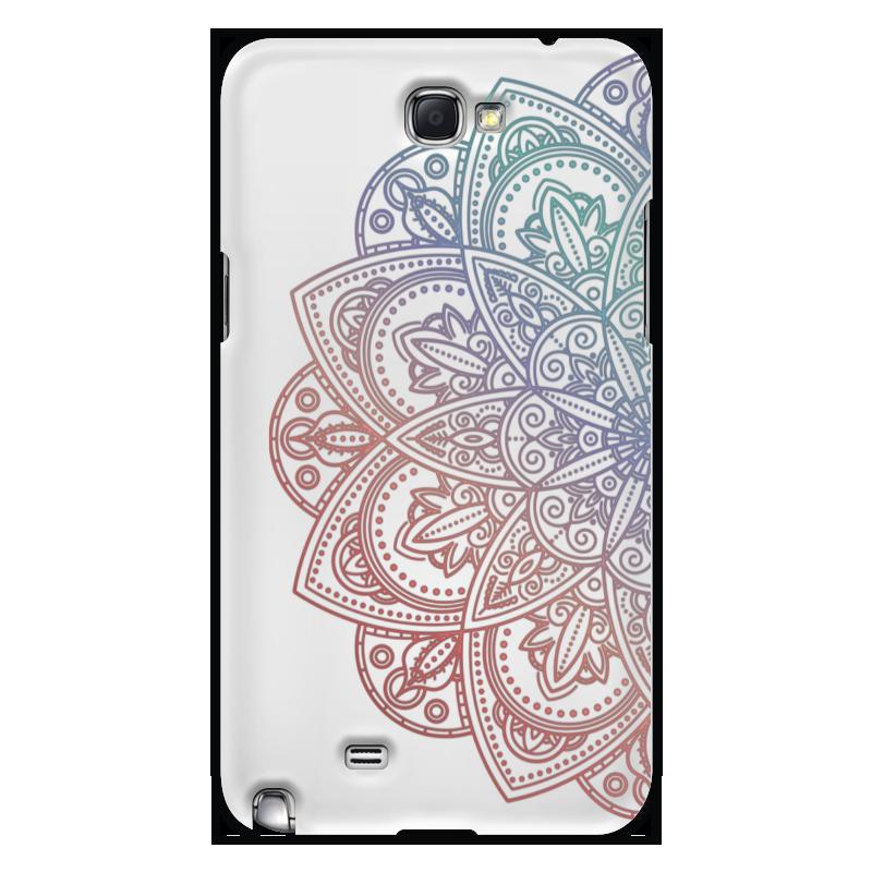 Чехол для Samsung Galaxy Note 2 Printio Мандала белый мандала шаблон мягкий тонкий резиновый тпу силиконовый чехол гель для lenovo k5 note