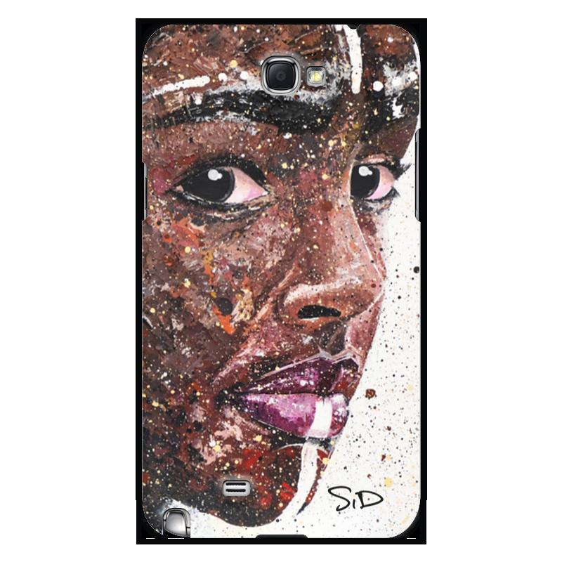 Чехол для Samsung Galaxy Note 2 Printio Эфиопка серова м вся прелесть стриптиза