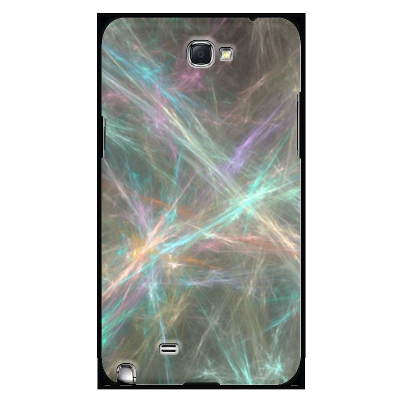 Чехол для Samsung Galaxy Note 2 Printio Абстрактный дизайн не прикасайся ко мне дизайн искусственная кожа флип чехол кошелек карты держатель чехол для samsung galaxy note 4