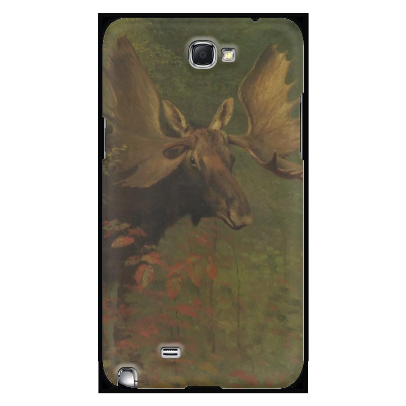 Чехол для Samsung Galaxy Note 2 Printio Лось (study of a moose) людмила жукова альберт бирштадт