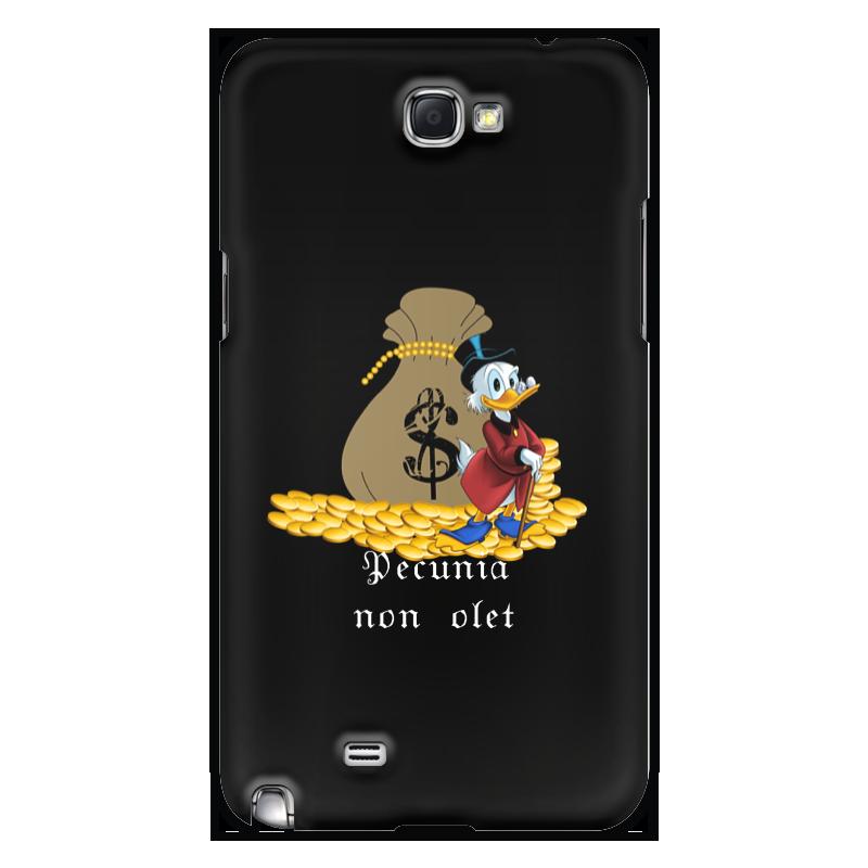 Чехол для Samsung Galaxy Note 2 Printio Деньги не пахнут. деньги. скрудж макдак. не включается samsung