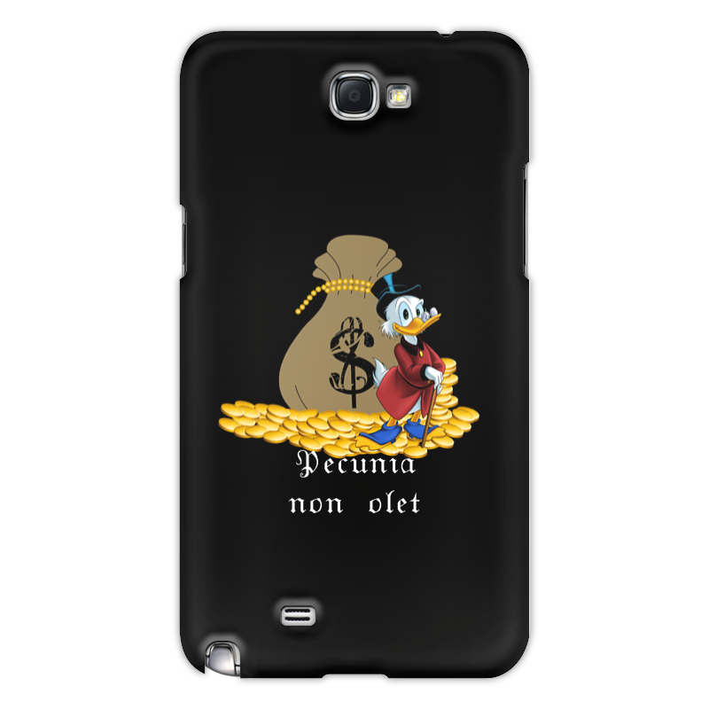 Чехол для Samsung Galaxy Note 2 Printio Деньги не пахнут. деньги. скрудж макдак. деньги