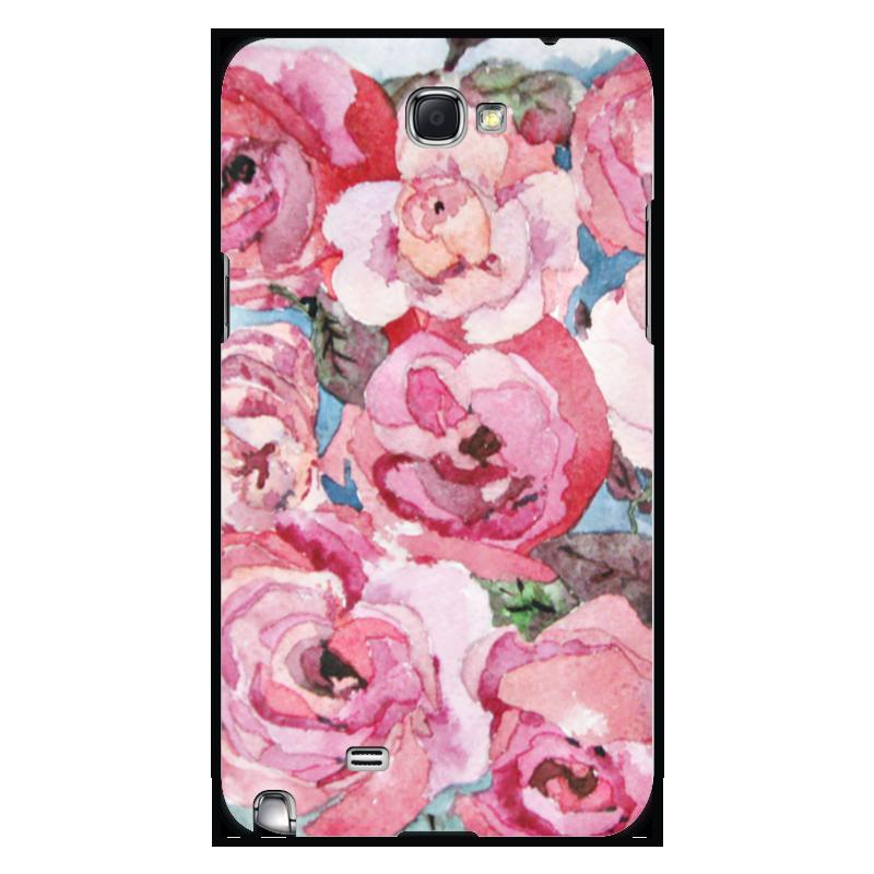 Чехол для Samsung Galaxy Note 2 Printio Розы. декор все цены