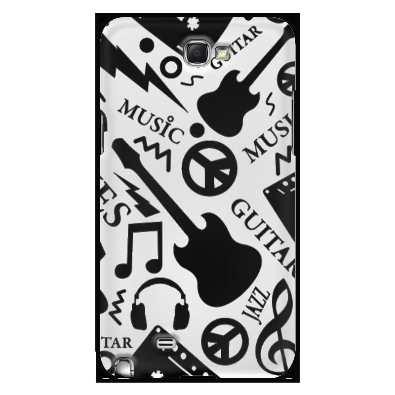 Чехол для Samsung Galaxy Note 2 Printio Музыка