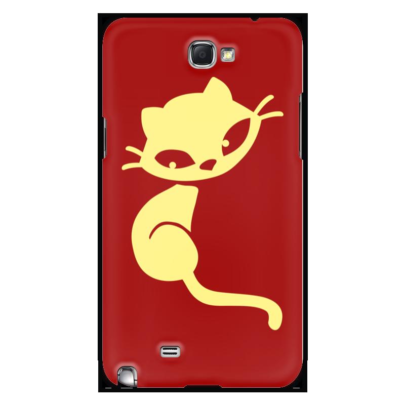 Чехол для Samsung Galaxy Note 2 Printio Кошечка чехол для для мобильных телефонов rcd 4 samsung 4 for samsung galaxy note 4 iv
