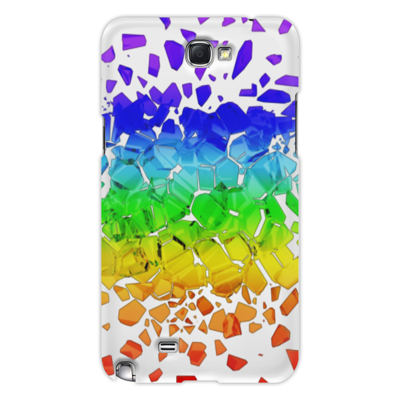 Чехол для Samsung Galaxy Note 2 Printio Broken rainbow