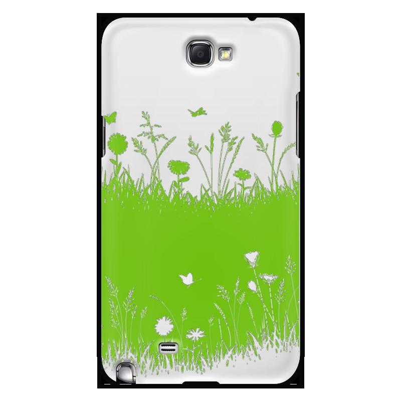Чехол для Samsung Galaxy Note 2 Printio Летняя трава биолит трава ромашки 100 г