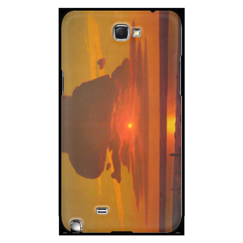 Чехол для Samsung Galaxy Note 2 Printio Красный закат (картина архипа куинджи) чехол для blackberry z10 printio север картина архипа куинджи