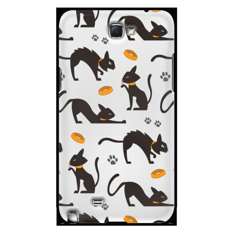 Чехол для Samsung Galaxy Note 2 Printio Чёрные кошки чехол для ноутбука 14 printio кошки