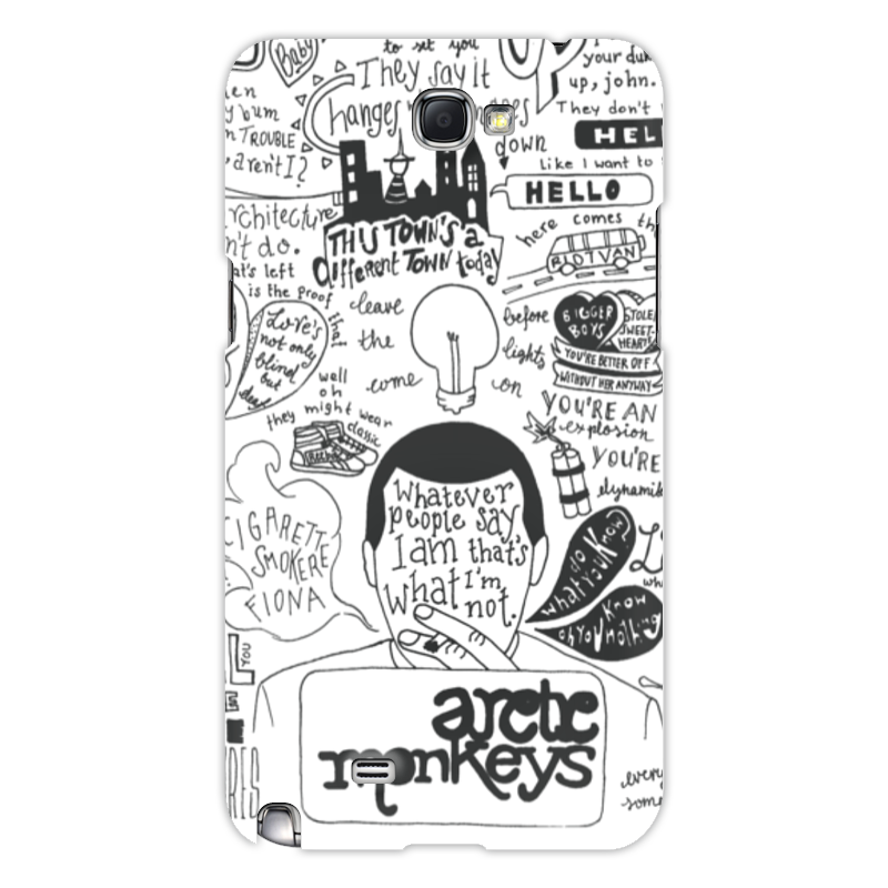 Чехол для Samsung Galaxy Note 2 Printio Arctic monkeys