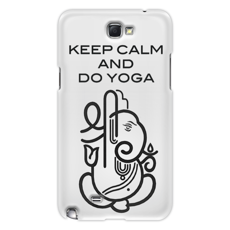 Чехол для Samsung Galaxy Note 2 Printio Keep calm and do yoga