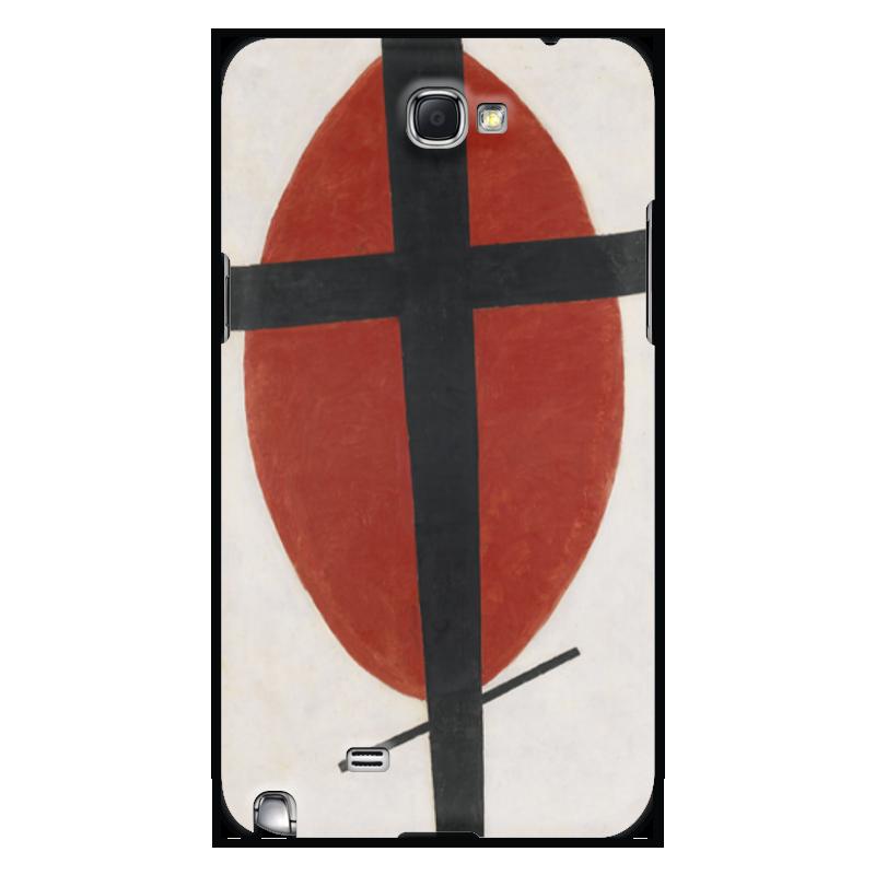 Чехол для Samsung Galaxy Note 2 Printio Супрематизм (черный крест на красном овале) чехол для для мобильных телефонов rcd 4 samsung 4 for samsung galaxy note 4 iv