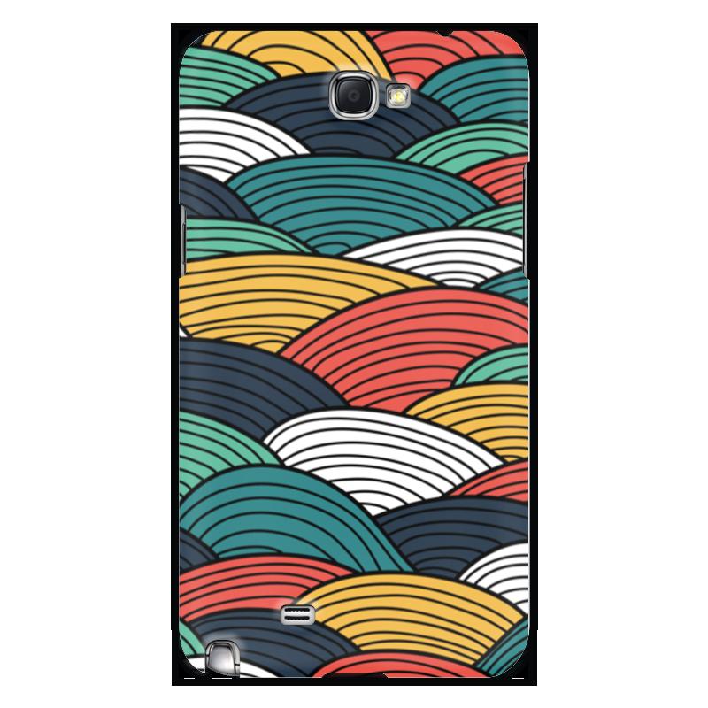 Чехол для Samsung Galaxy Note 2 Printio Цветные волны чехол для ноутбука 14 printio волны