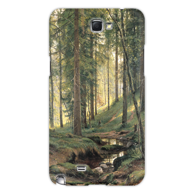 Чехол для Samsung Galaxy Note 2 Printio Ручей в лесу новый русский базар 1869 1898