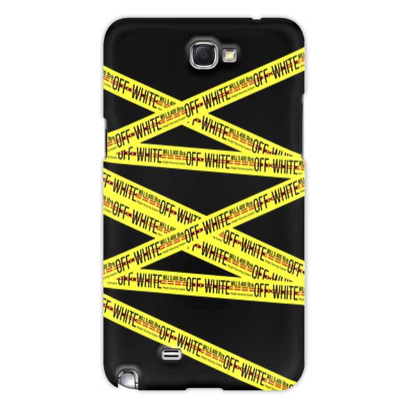 Чехол для Samsung Galaxy Note 2 Printio Off-white protective plastic back case for samsung galaxy note 2 n7100 translucent white