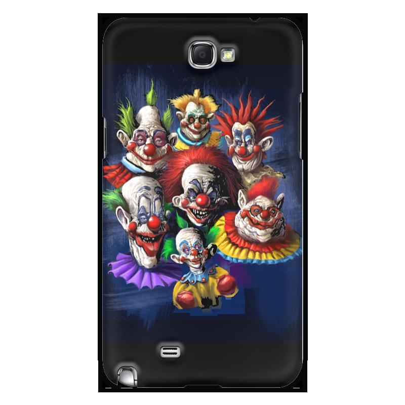 где купить Чехол для Samsung Galaxy Note 2 Printio Клоуны-злодеи дешево