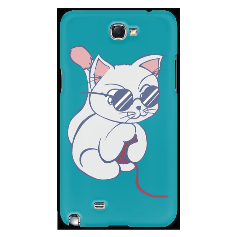 Чехол для Samsung Galaxy Note 2 Printio Котенок с клубком качели gusio котенок