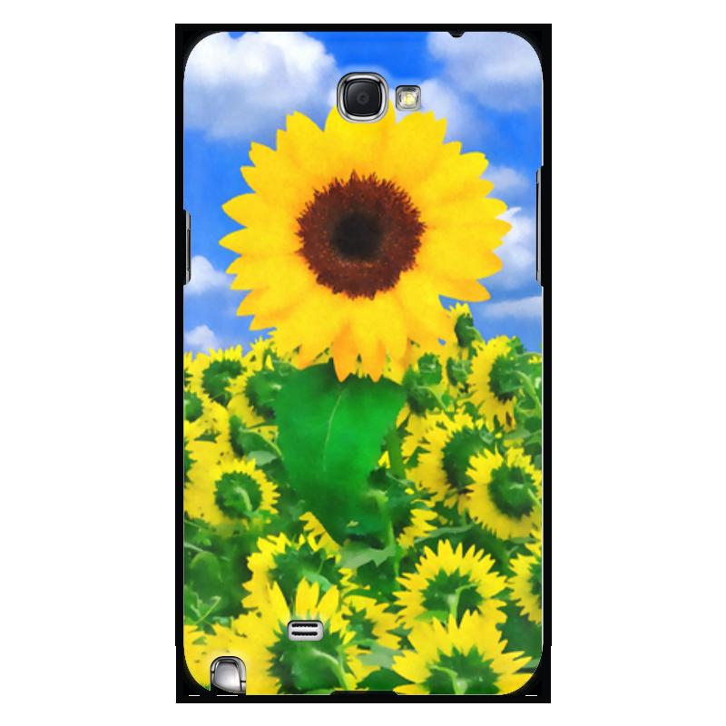 Чехол для Samsung Galaxy Note 2 Printio Подсолнух чехол для для мобильных телефонов rcd 4 samsung 4 for samsung galaxy note 4 iv