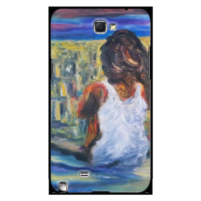 Чехол для Samsung Galaxy Note 2 Printio Наедине с миром