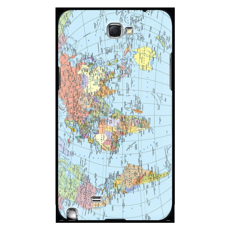 Чехол для Samsung Galaxy Note 2 Printio Карта мира фотопанно ovk design карта мира 230473 1 лист 2 5х1 3 м