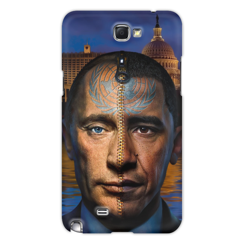 Чехол для Samsung Galaxy Note 2 Printio Путин / обама чехол для samsung galaxy s5 printio путин в костюме