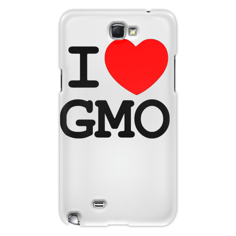 Чехол для Samsung Galaxy Note 2 Printio I love gmo love note