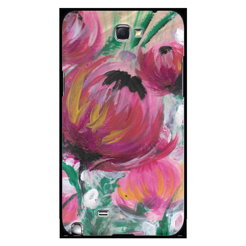 Чехол для Samsung Galaxy Note 2 Printio Полевые цветы чехол для ноутбука 12 printio чехол чехол чехол полевые цветы