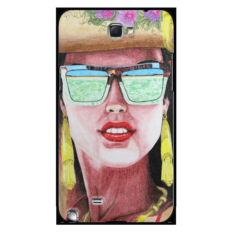 Чехол для Samsung Galaxy Note 2 Printio Девушка в очках чехол для samsung galaxy note 2 printio девушка с жемчужной серёжкой ян вермеер