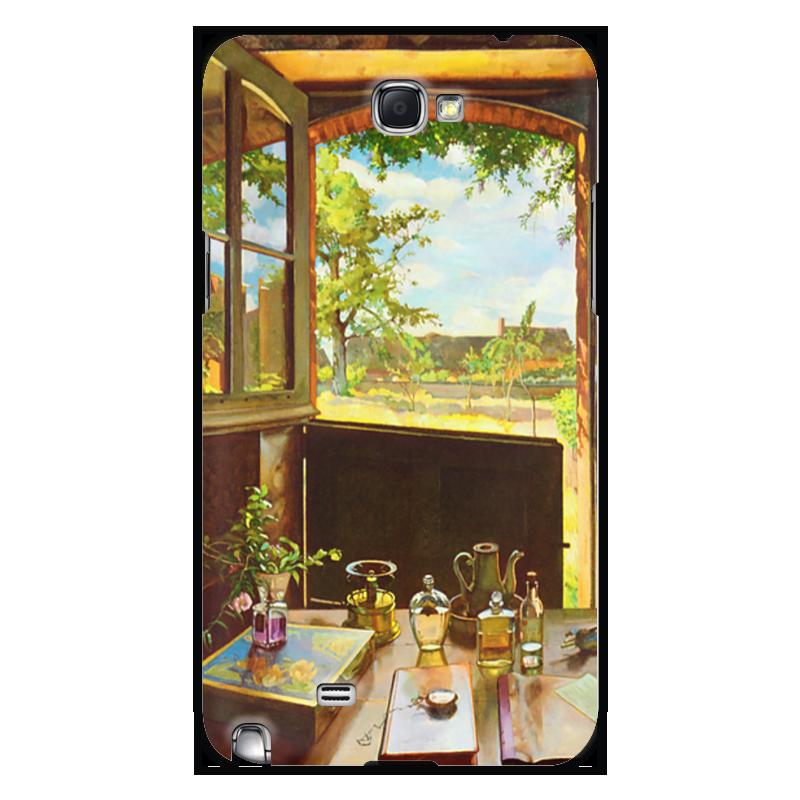 купить Чехол для Samsung Galaxy Note 2 Printio Открытая дверь в сад по цене 1470 рублей