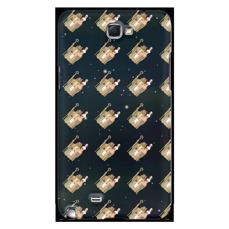 лучшая цена Чехол для Samsung Galaxy Note 2 Printio Фоном медведь wap.click на троне