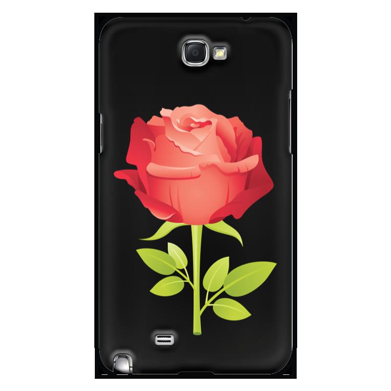 Чехол для Samsung Galaxy Note 2 Printio Розочка аксессуар розочка уп 12 48 864шт