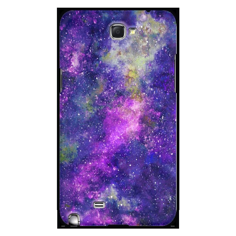 Чехол для Samsung Galaxy Note 2 Printio Космос (фиолетовый) чехол клип кейс samsung protective standing cover great для samsung galaxy note 8 темно синий [ef rn950cnegru]