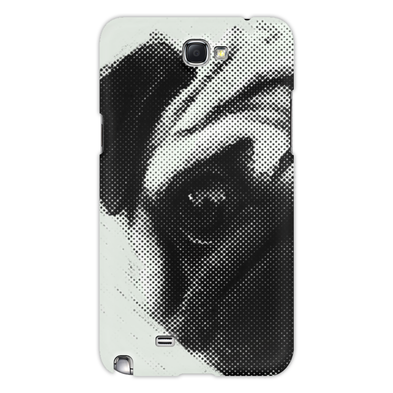 все цены на Чехол для Samsung Galaxy Note 2 Printio Pug fan print