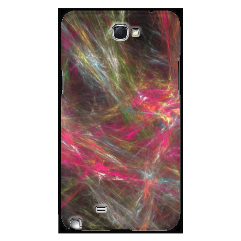 Чехол для Samsung Galaxy Note 2 Printio Абстрактный дизайн розовый дизайн кожа pu откидная крышка бумажника карты держатель чехол для samsung galaxy g386