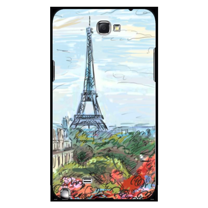 Чехол для Samsung Galaxy Note 2 Printio Эйфелева башня miti 2 015 новый эйфелева башня древний цветные печати флип стенд кожаный чехол для ipad mini 1 2 3 retina случае бесплатная доставка