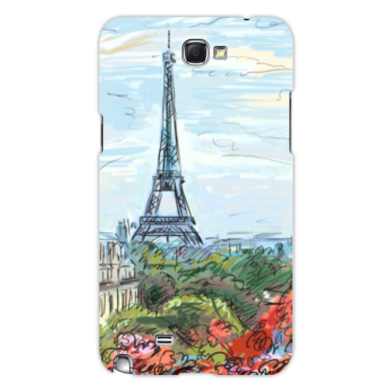 Чехол для Samsung Galaxy Note 2 Printio Эйфелева башня цена