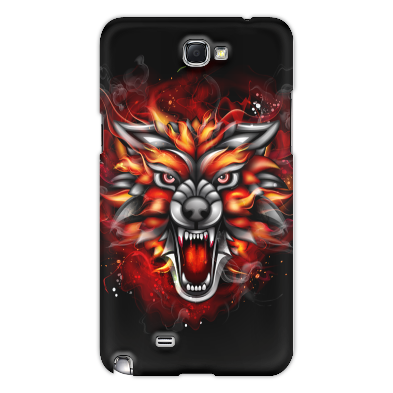Чехол для Samsung Galaxy Note 2 Printio Wolf & fire 3d fire wolf head style shorts for men black size xl