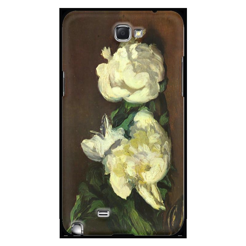 Чехол для Samsung Galaxy Note 2 Printio Белые пионы чехол для для мобильных телефонов rcd 4 samsung 4 for samsung galaxy note 4 iv