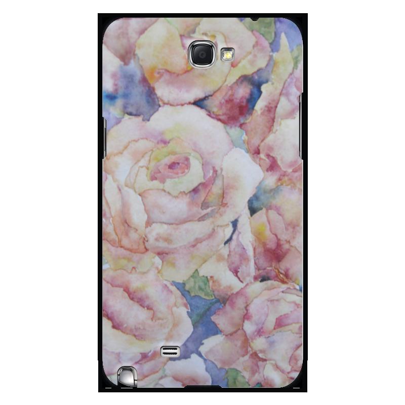 Чехол для Samsung Galaxy Note 2 Printio Розы. нежность