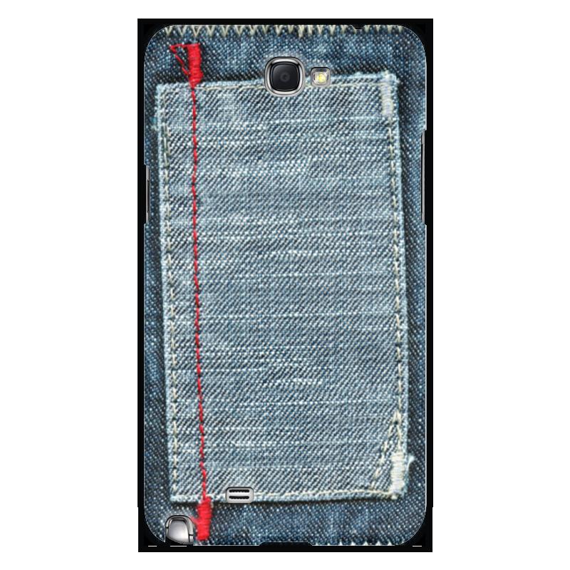 Чехол для Samsung Galaxy Note 2 Printio Джинса