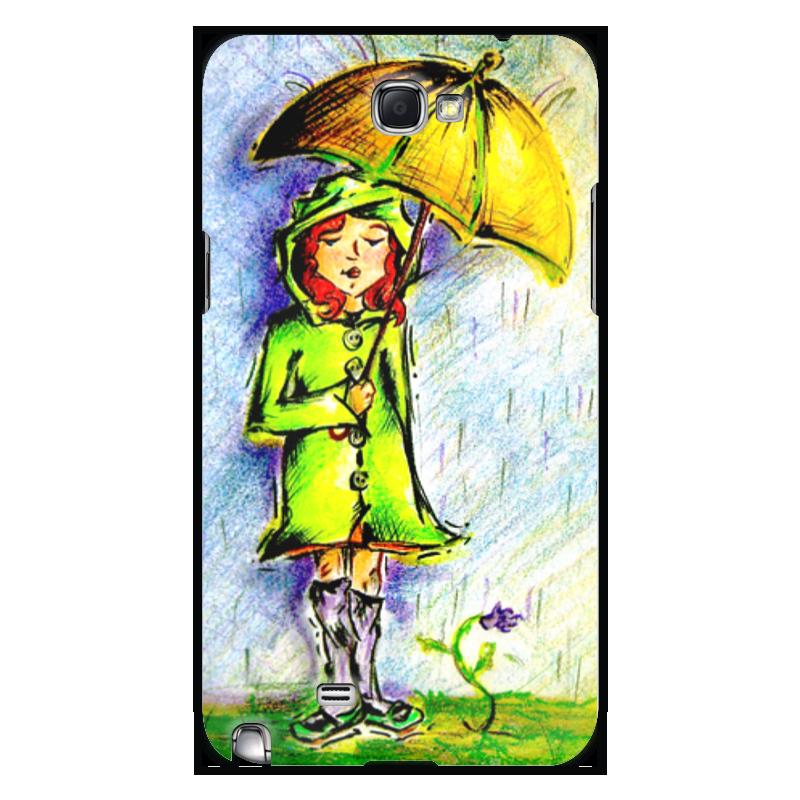 Чехол для Samsung Galaxy Note 2 Printio Дождик, дождик, уходи!