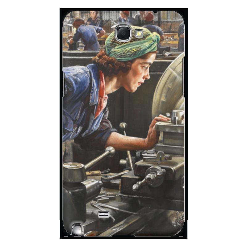 Чехол для Samsung Galaxy Note 2 Printio Руби лофтус. ввинчивание казённика (лаура найт)