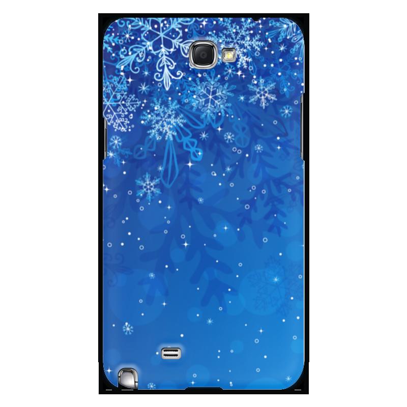 Чехол для Samsung Galaxy Note 2 Printio Снежинки чехол клип кейс samsung protective standing cover great для samsung galaxy note 8 темно синий [ef rn950cnegru]