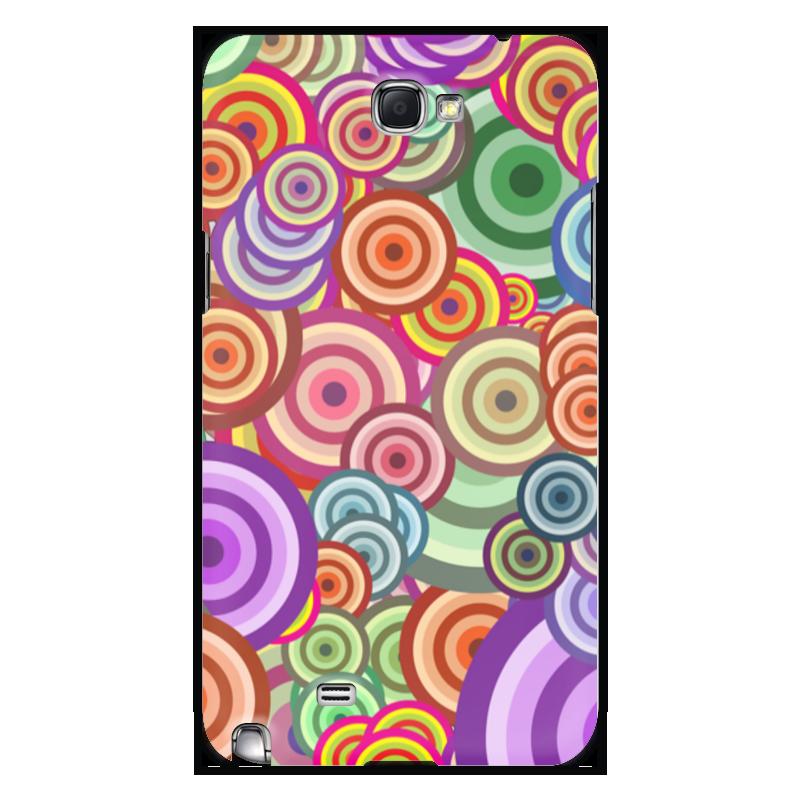 Чехол для Samsung Galaxy Note 2 Printio Цветные круги все цены