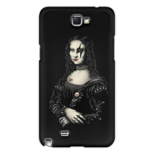 "Чехол для Samsung Galaxy Note 2 ""KISS for iPhone 5"" - арт, kiss, rock n roll, hard rock, mona lisa, глэм-рок"