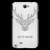 """Чехол для Samsung Galaxy Note 2 """"Dear Deer"""" - рисунок, дизайн, олень, минимализм, рога"""